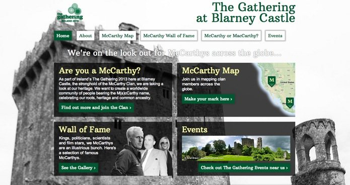 The McCarthy Gathering at Blarney Castle