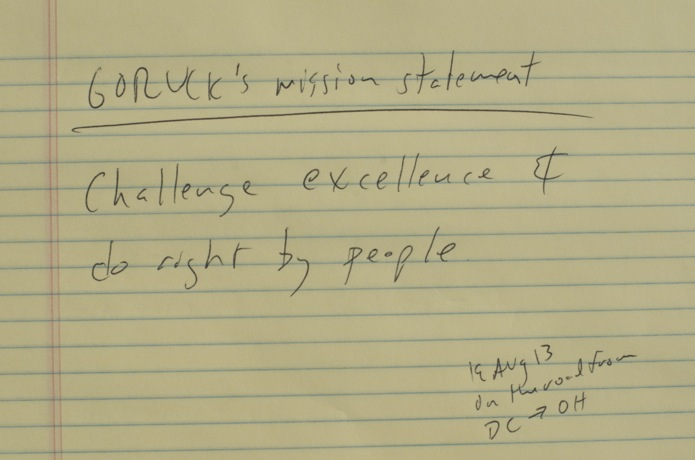GORUCK Mission Statement_Challenge Excellence and Do Right By People