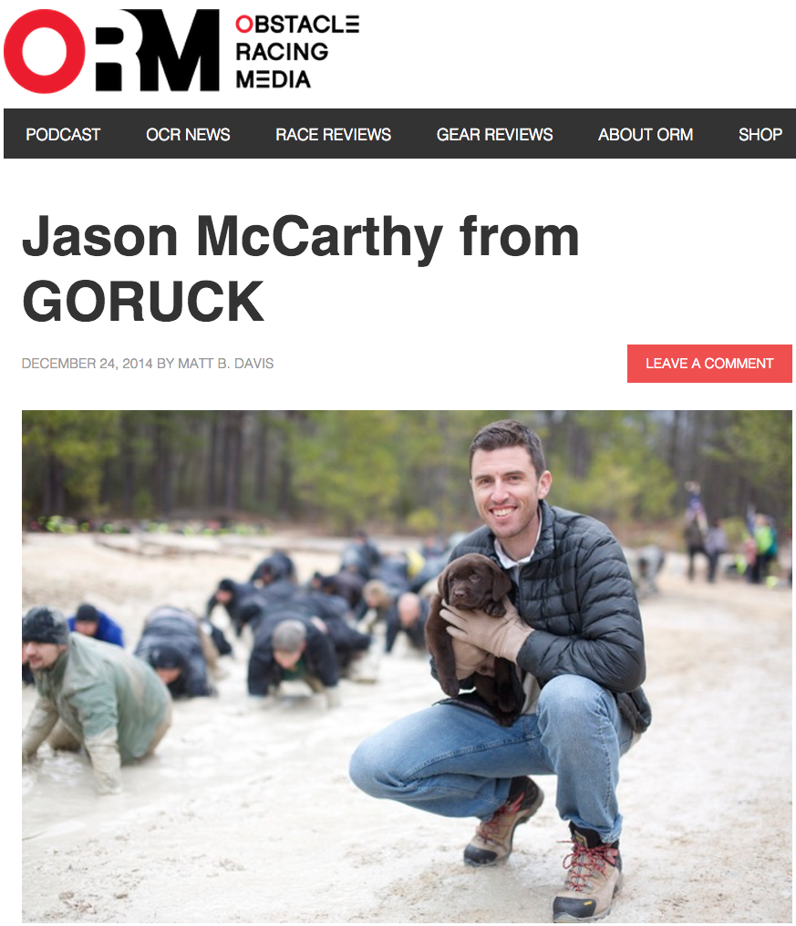 Obstacle Racing Media_ORM_Jason McCarthy_GORUCK_Interview