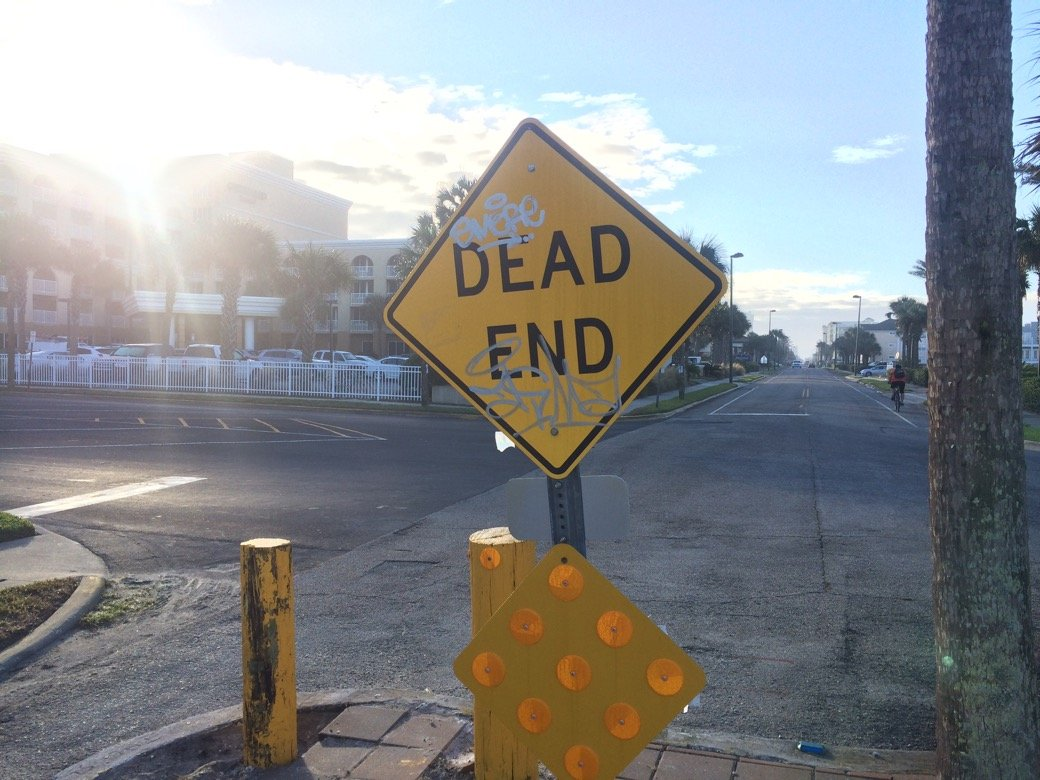 Dead End Sign_Jax Beach