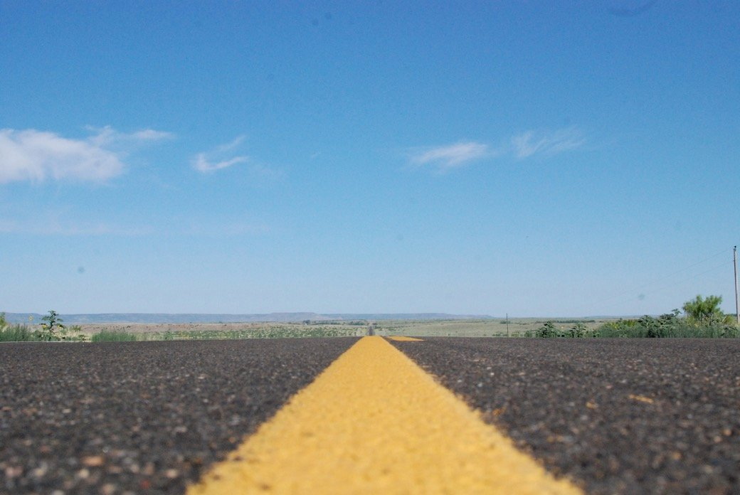 Yellow line_open roads